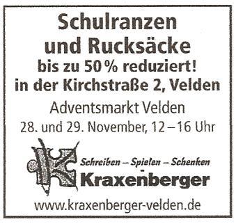Schulranzen Lagerverkauf Adventsmarkt2 Kirchstr
